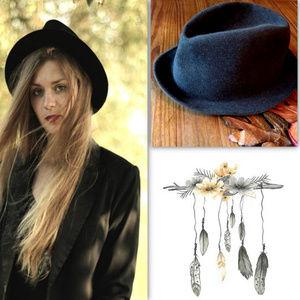 Vintage 100% Wool Boho Hat